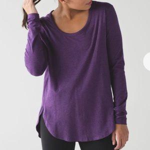 Lululemon Love Scoop Long Sleeve Tee Pima Purple